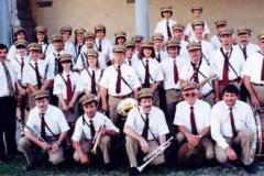 Foto di gruppo alla chiesa di Fuipiano Imagna